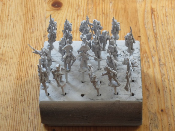 A unit of Napoleonic infantry, ready to go