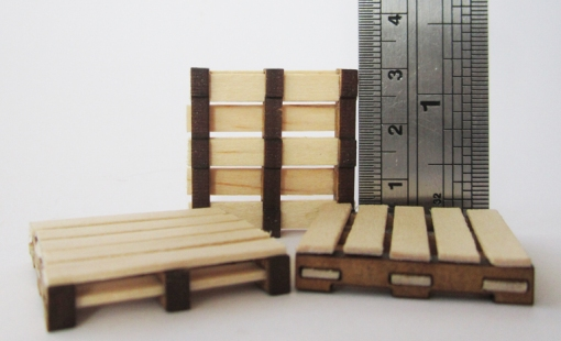 GOT002 Set of three pallets. Coffee stirrers from your favourite tax avoider not included.