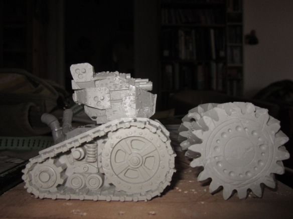 After a rough assembly i thought the turret wasn't imposing enough